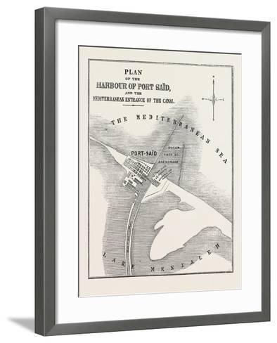 The Isthmus of Suez Maritime Canal--Framed Art Print