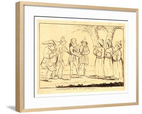 The Commissioner's Interview with Congress--Framed Art Print