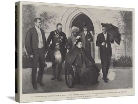 The Confirmation of Princess Alice of Albany at St George's Church--Stretched Canvas Print