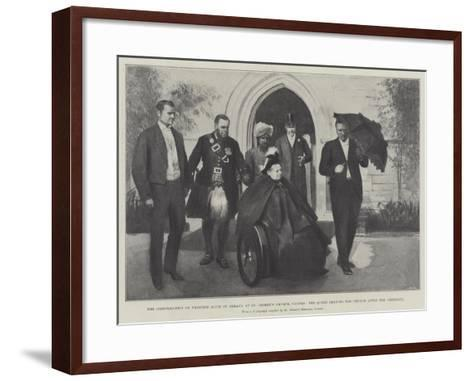 The Confirmation of Princess Alice of Albany at St George's Church--Framed Art Print