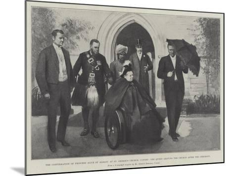 The Confirmation of Princess Alice of Albany at St George's Church--Mounted Giclee Print