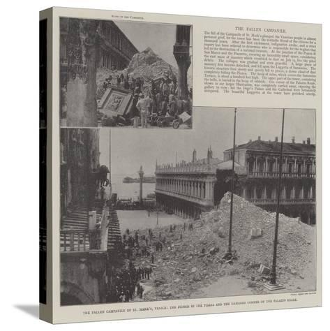 The Fallen Campanile of St Mark'S--Stretched Canvas Print