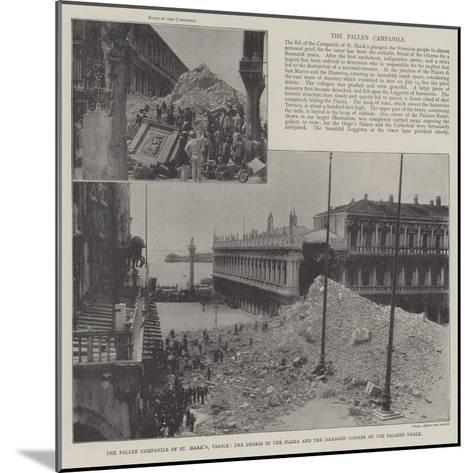 The Fallen Campanile of St Mark'S--Mounted Giclee Print