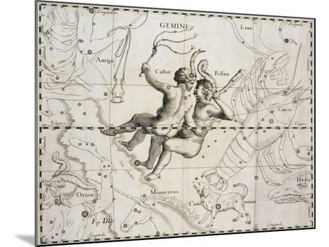 The Constellation of Gemini from Firmamentum Sobiescianum Sive Uranographia--Mounted Giclee Print