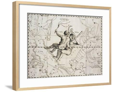 The Constellation of Gemini from Firmamentum Sobiescianum Sive Uranographia--Framed Art Print