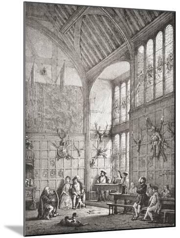 The Great Hall--Mounted Giclee Print