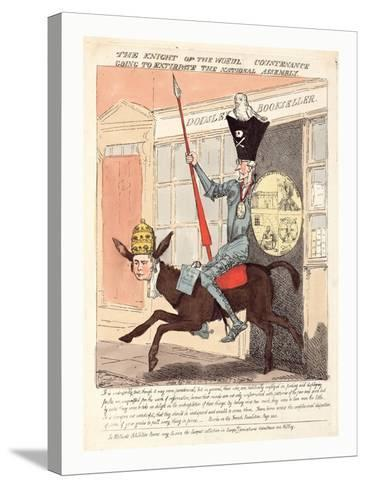 The Knight of the Woeful Countenance Going to Extirpate the National Assembly--Stretched Canvas Print