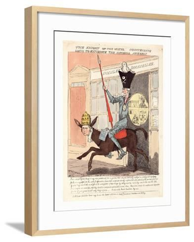 The Knight of the Woeful Countenance Going to Extirpate the National Assembly--Framed Art Print