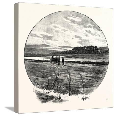The Coquet at Farnham--Stretched Canvas Print