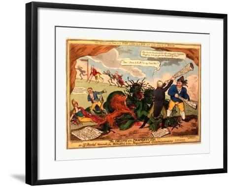 The Death of the Property Tax! or 37 Mortal Wounds for Ministers and the Inquisitoral Commissioners--Framed Art Print