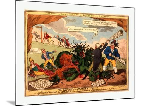 The Death of the Property Tax! or 37 Mortal Wounds for Ministers and the Inquisitoral Commissioners--Mounted Giclee Print