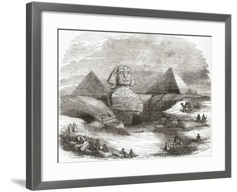 The Great Sphinx of Giza--Framed Art Print