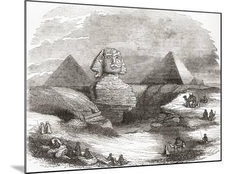 The Great Sphinx of Giza--Mounted Giclee Print