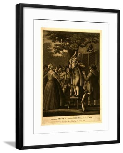 The Grinning Match--Framed Art Print
