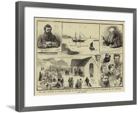 The Land Question in Scotland--Framed Art Print