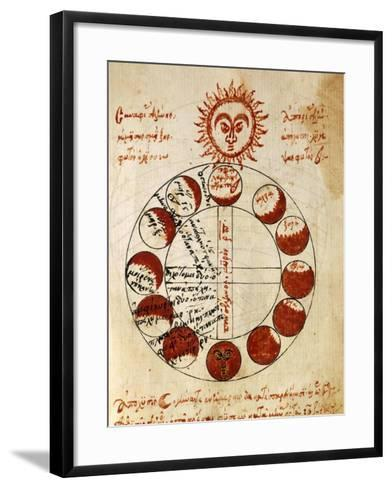 The Different Phases of Sun--Framed Art Print