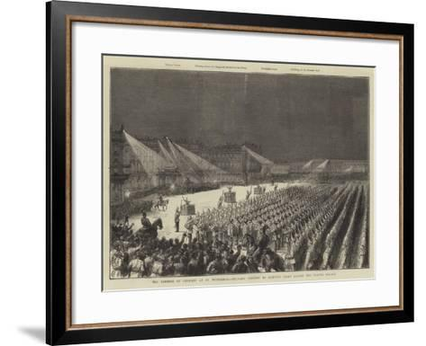 The Emperor of Germany at St Petersburg--Framed Art Print