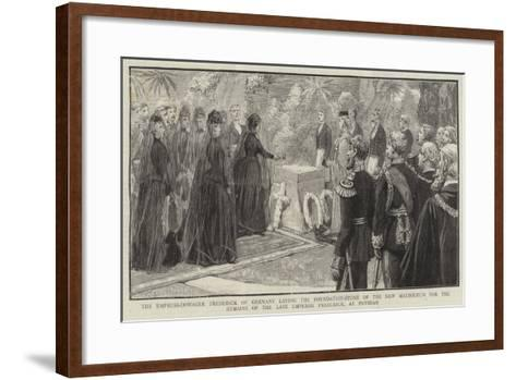 The Empress-Dowager Frederick of Germany Laying the Foundation-Stone of the New Mausoleum for the R--Framed Art Print