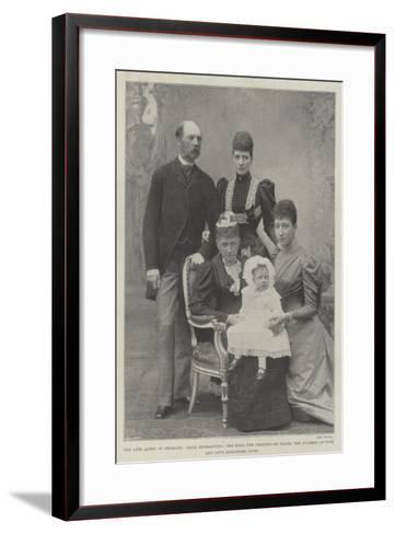 The Late Queen of Denmark--Framed Art Print
