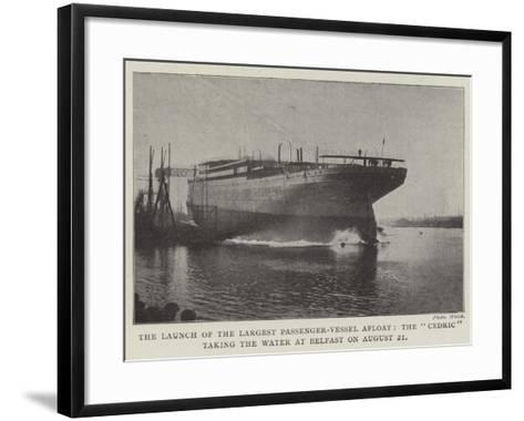 The Launch of the Largest Passenger-Vessel Afloat--Framed Art Print