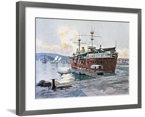 The Old Ship Castelfidardo in La Spezia--Framed Art Print