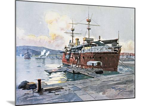 The Old Ship Castelfidardo in La Spezia--Mounted Giclee Print