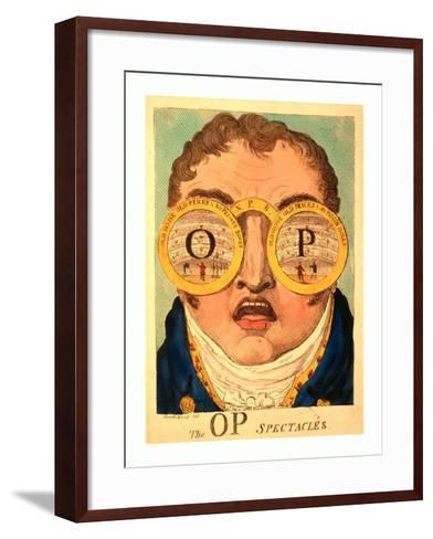 The Op Spectacles--Framed Art Print