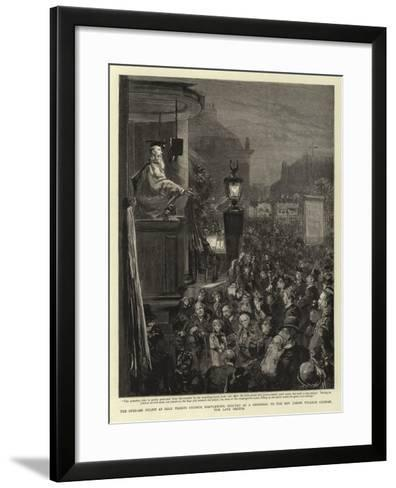 The Open-Air Pulpit at Holy Trinity Church--Framed Art Print