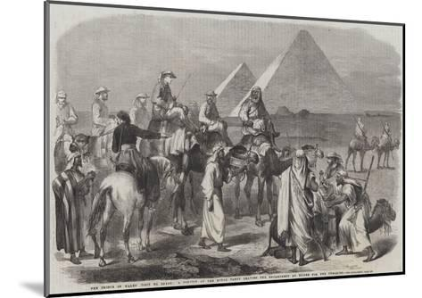 The Prince of Wales' Visit to Egypt--Mounted Giclee Print
