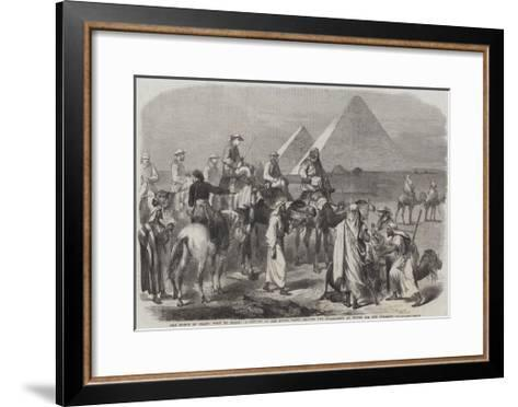 The Prince of Wales' Visit to Egypt--Framed Art Print