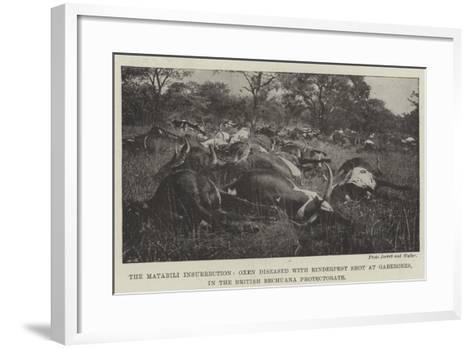 The Matabili Insurrection--Framed Art Print