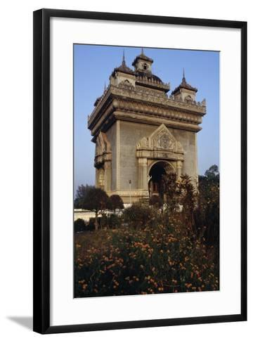 The Patuxai (Victory Gate or Gate of Triumph)--Framed Art Print
