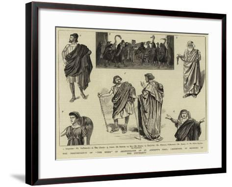 The Performance of The Birds of Arisophanes at St Andrew's Hall--Framed Art Print