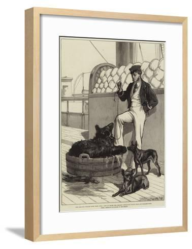 The Prince's Voyage Home from India--Framed Art Print