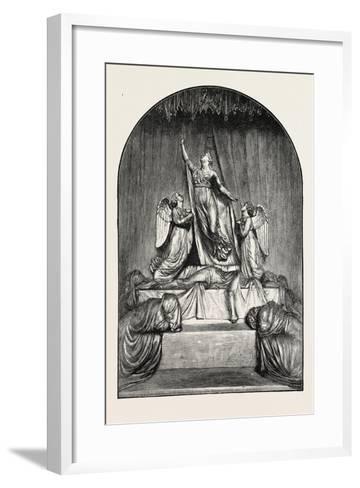 The Princess Charlotte Monument. the Princess Charlotte Augusta--Framed Art Print