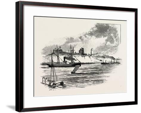The River at Tynemouth Castle--Framed Art Print