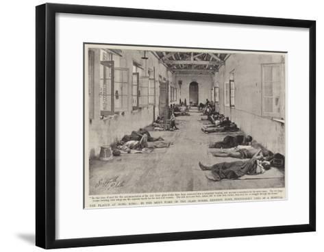 The Plague at Hong Kong--Framed Art Print