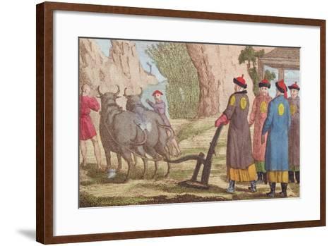 The Ploughing Festival in China--Framed Art Print
