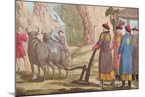 The Ploughing Festival in China--Mounted Giclee Print