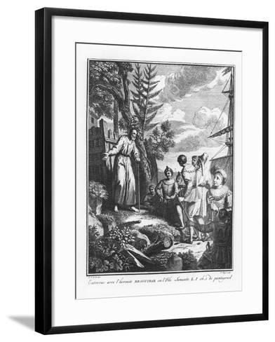 The Meeting with Braguibar on the Island of Sonante from 'The Life of Gargantua and Pantagruel'--Framed Art Print