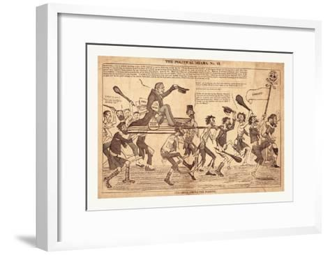 The Political Drama. No. 61. Old Grill Among the Paddies--Framed Art Print