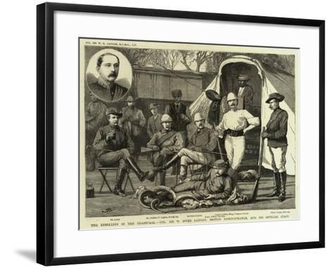 The Rebellion in the Transvaal--Framed Art Print