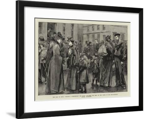 The Loss of H M S Serpent--Framed Art Print