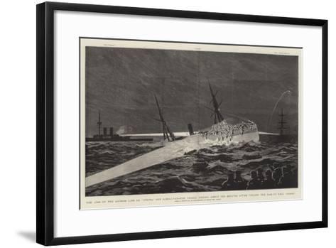 The Loss of the Anchor Line Ss Utopia Off Gibraltar--Framed Art Print