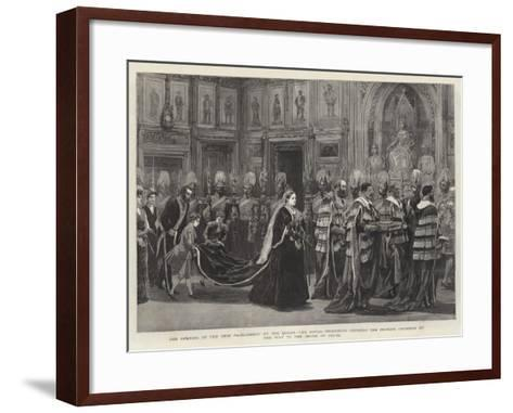 The Opening of the New Parliament by the Queen--Framed Art Print