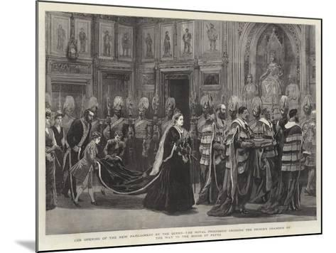 The Opening of the New Parliament by the Queen--Mounted Giclee Print