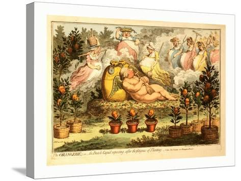 The Orangerie or the Dutch Cupid Reposing after the Fatigues of Planting--Stretched Canvas Print