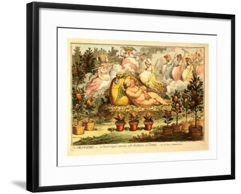 The Orangerie or the Dutch Cupid Reposing after the Fatigues of Planting--Framed Art Print