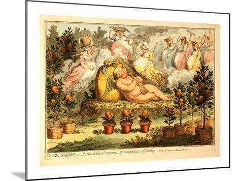 The Orangerie or the Dutch Cupid Reposing after the Fatigues of Planting--Mounted Giclee Print