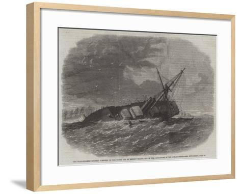 The Mail-Steamer Colombo Wrecked on the North End of Minicoy Island--Framed Art Print